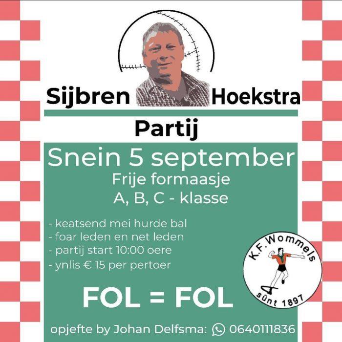 Sijbren Hoekstra Partij
